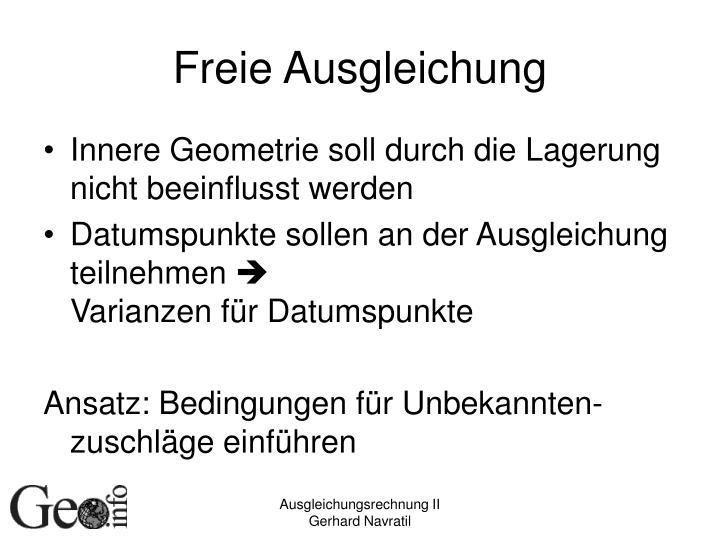 Freie Ausgleichung