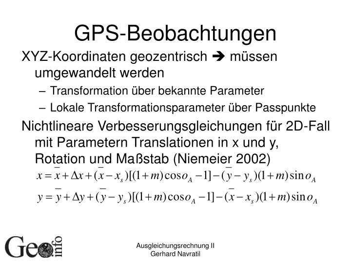 GPS-Beobachtungen