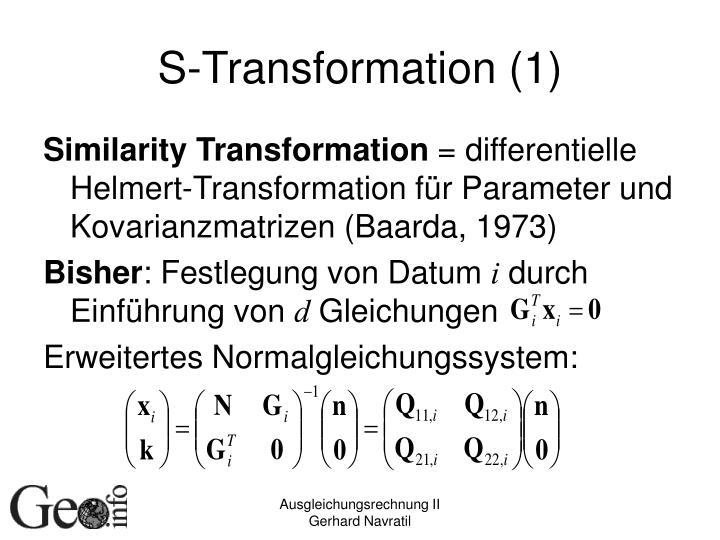 S-Transformation (1)