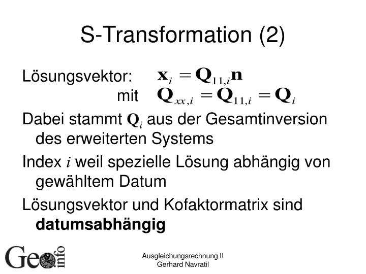 S-Transformation (2)