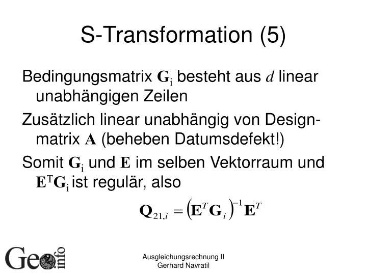 S-Transformation (5)