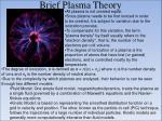 brief plasma theory