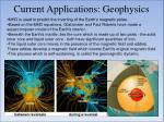 current applications geophysics