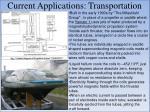 current applications transportation