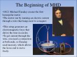 the beginning of mhd