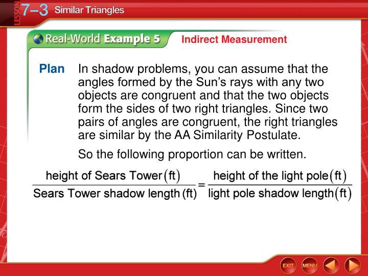 Indirect Measurement