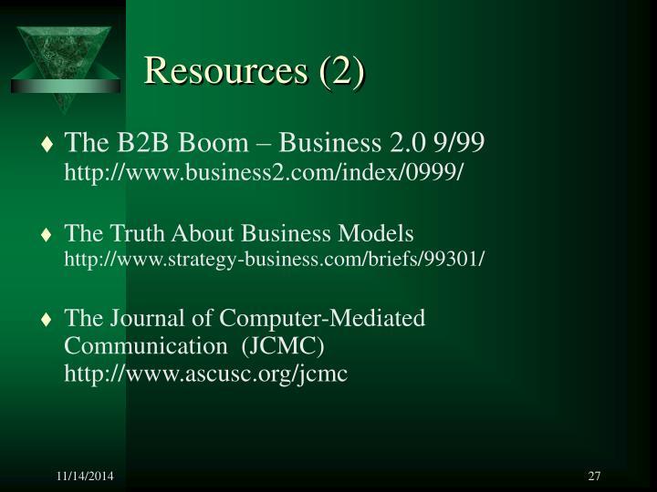 Resources (2)