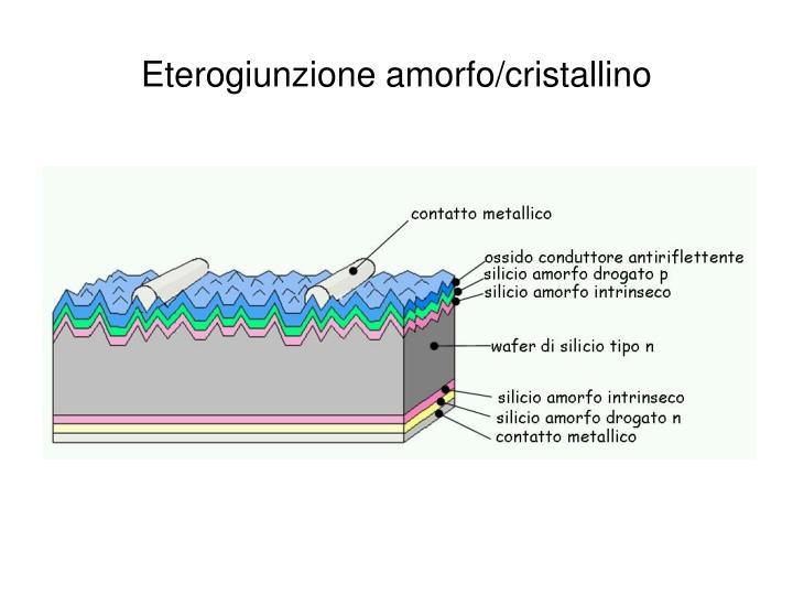 Eterogiunzione amorfo/cristallino