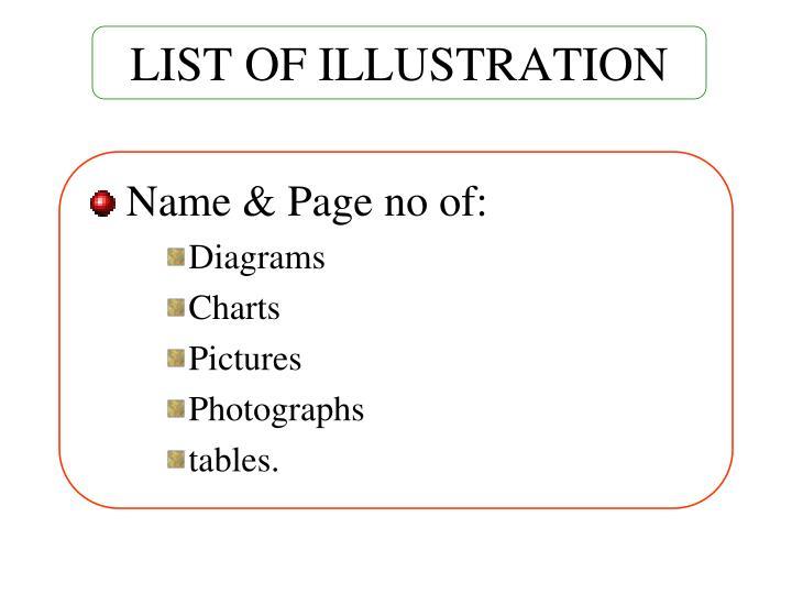 LIST OF ILLUSTRATION