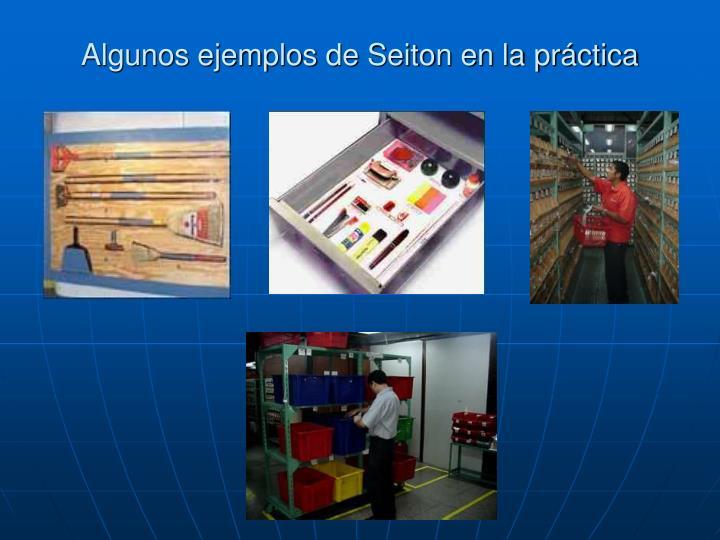 Algunos ejemplos de Seiton en la práctica