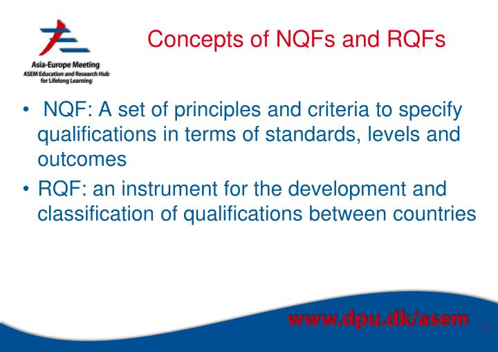 Concepts of NQFs and RQFs