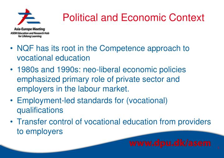 Political and economic context