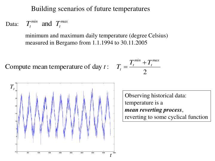 Building scenarios of future temperatures