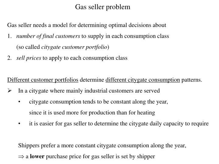 Gas seller problem