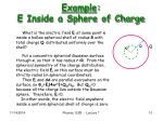 example e inside a sphere of charge