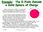 example the e field outside a solid sphere of charge