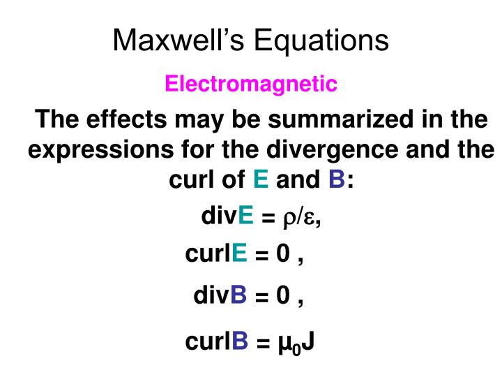 Maxwell s equations1