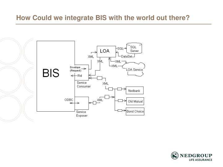 How Could we integrate BIS with the world out there?