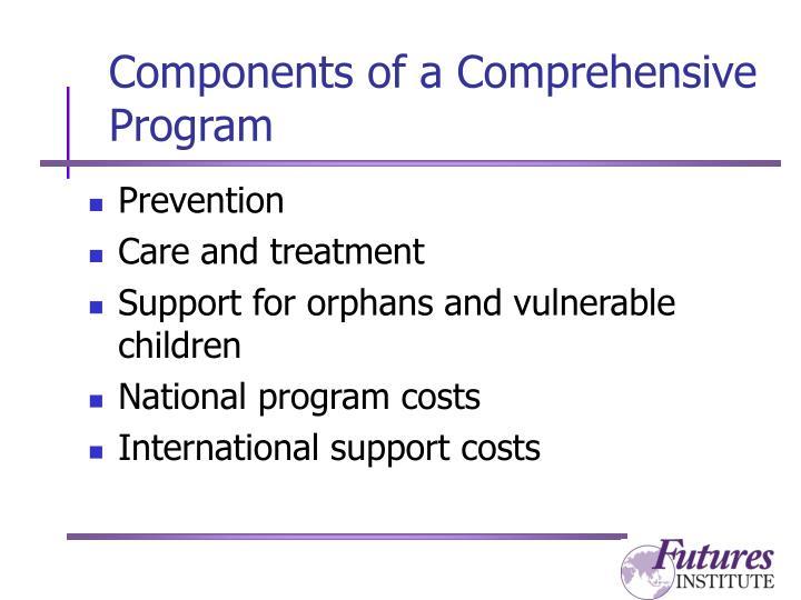 Components of a Comprehensive Program