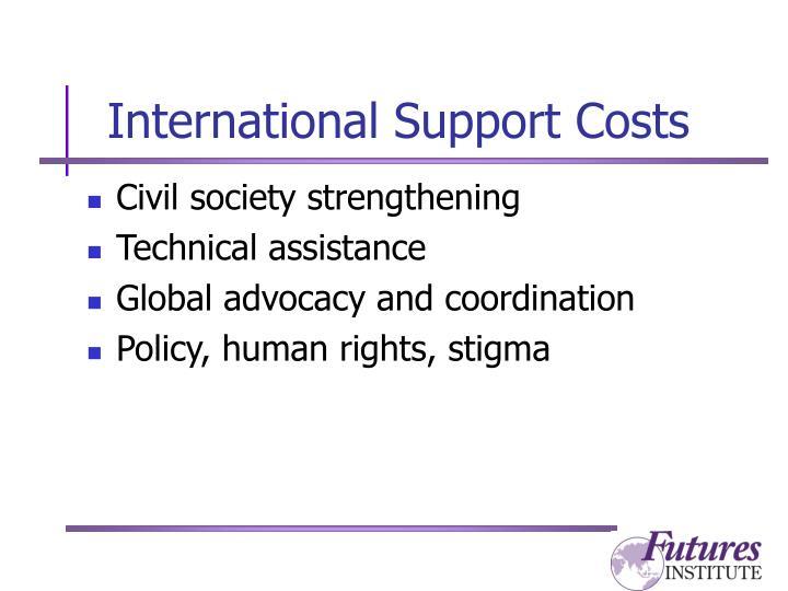 International Support Costs