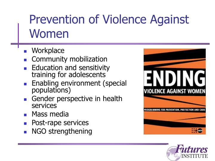 Prevention of Violence Against Women