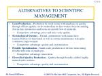 alternatives to scientific management