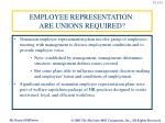 employee representation are unions required