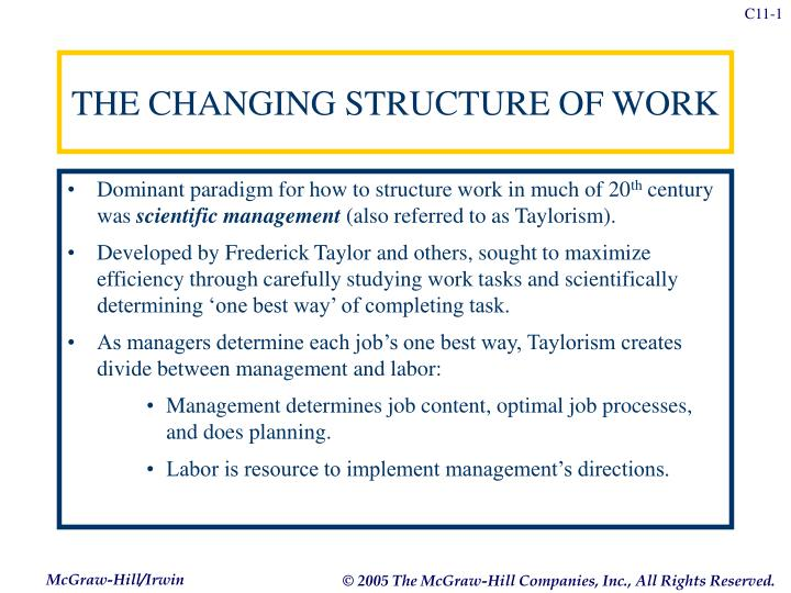 the changing structure of work n.