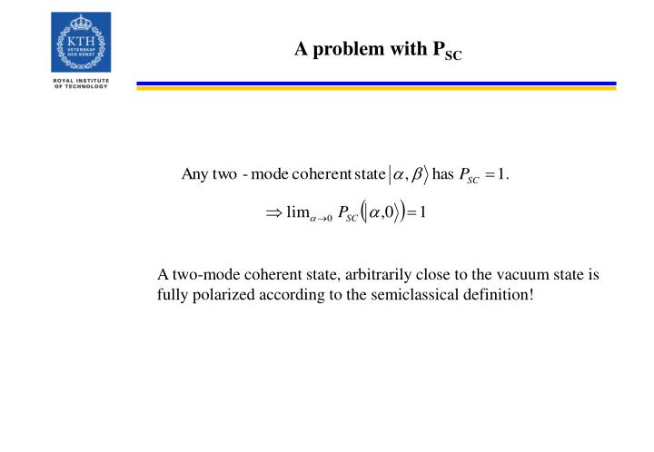 A problem with P