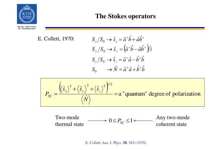 The Stokes operators