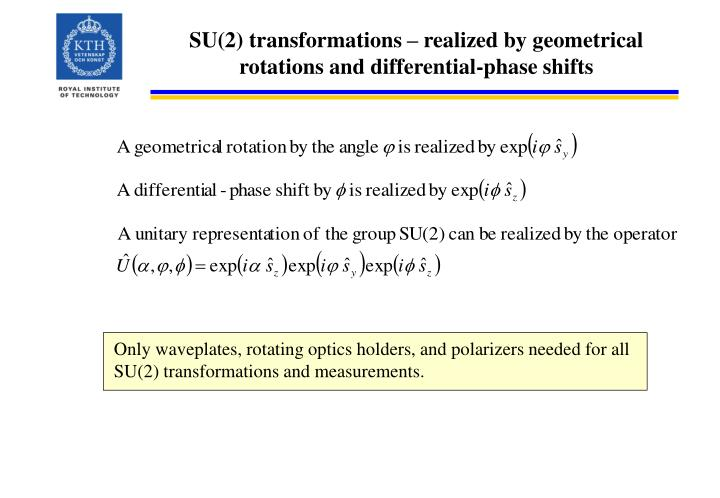 SU(2) transformations