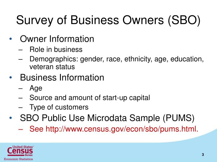 Survey of business owners sbo