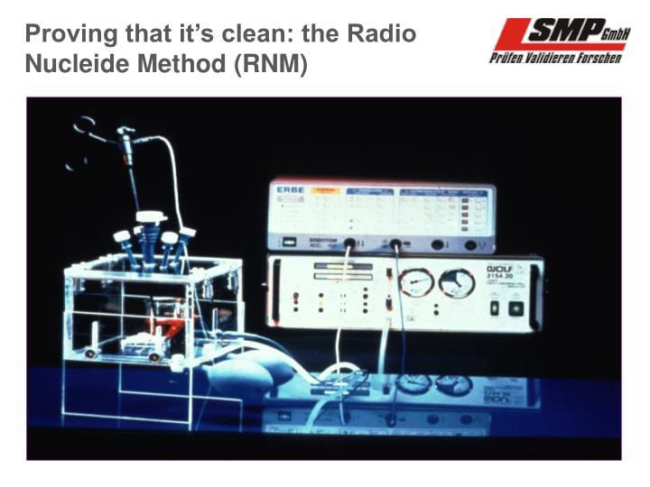 Proving that it's clean: the Radio