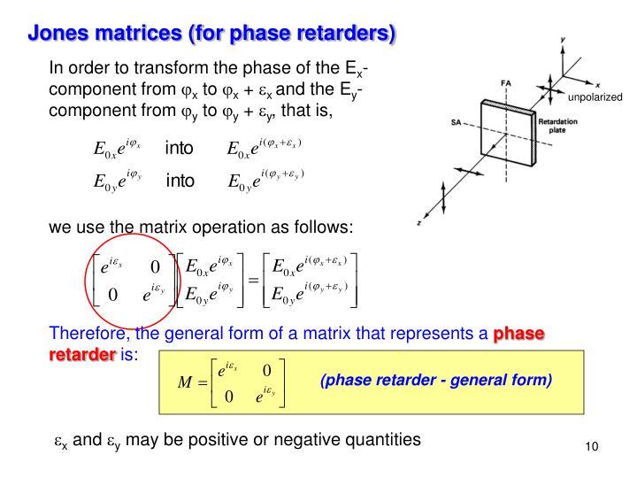 (phase retarder - general form