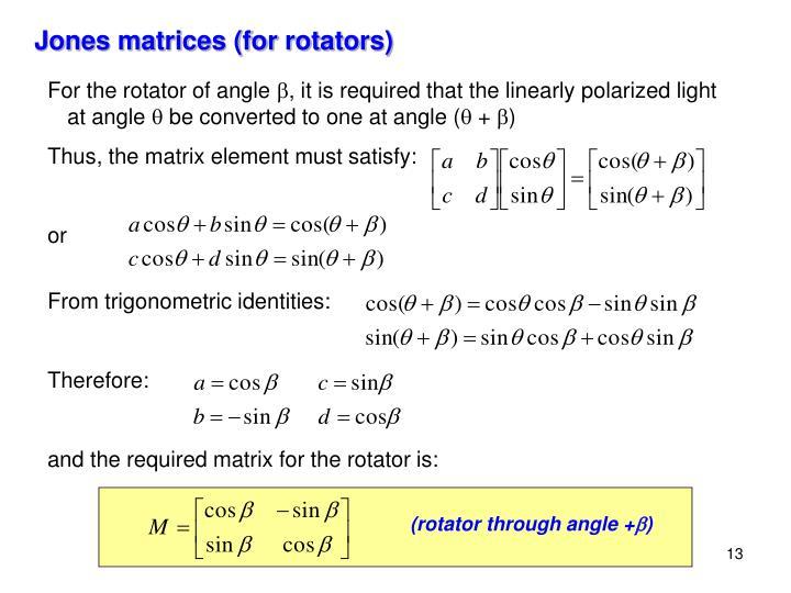 (rotator through angle +