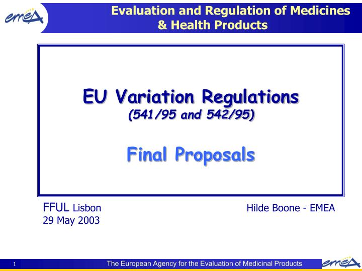 evaluation and regulation of medicines health products n.