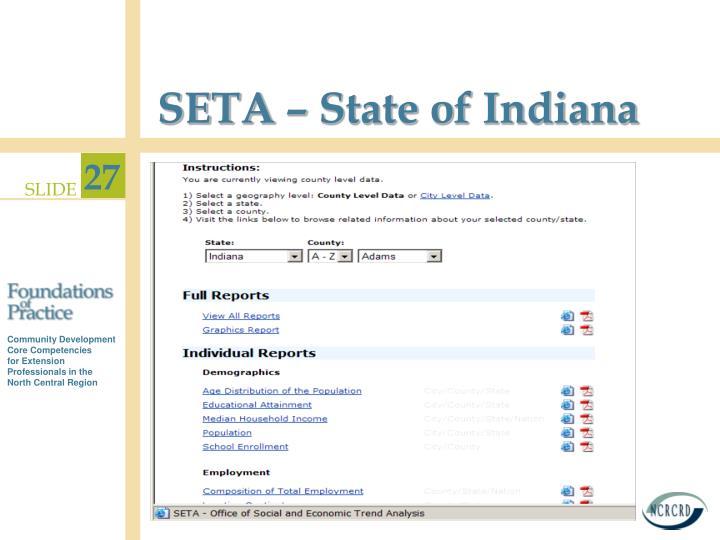 SETA – State of Indiana