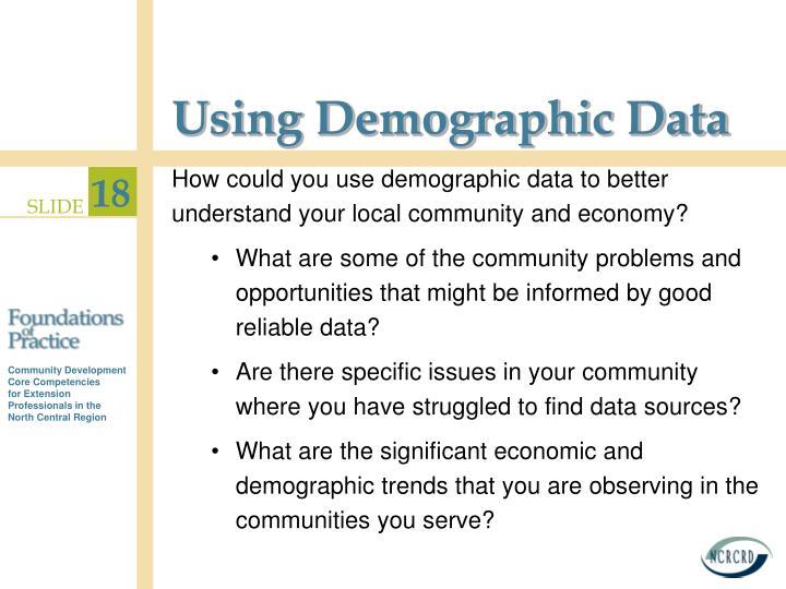 Using Demographic Data