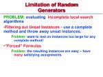 limitation of random generators