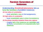 random generators of instances