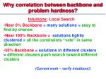 why correlation between backbone and problem hardness