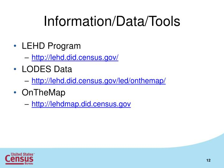 Information/Data/Tools