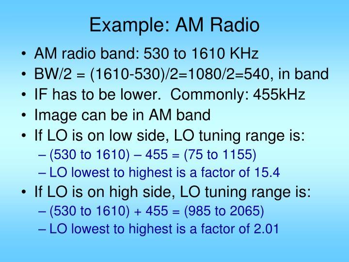 Example: AM Radio