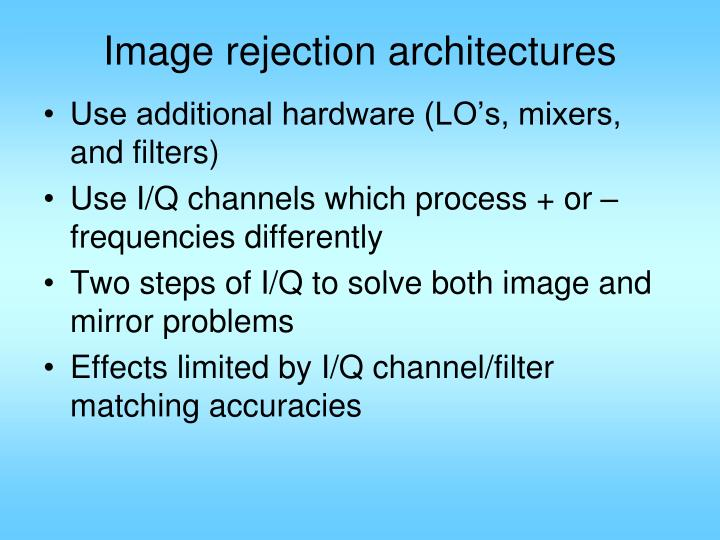 Image rejection architectures
