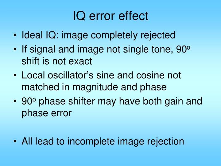 IQ error effect