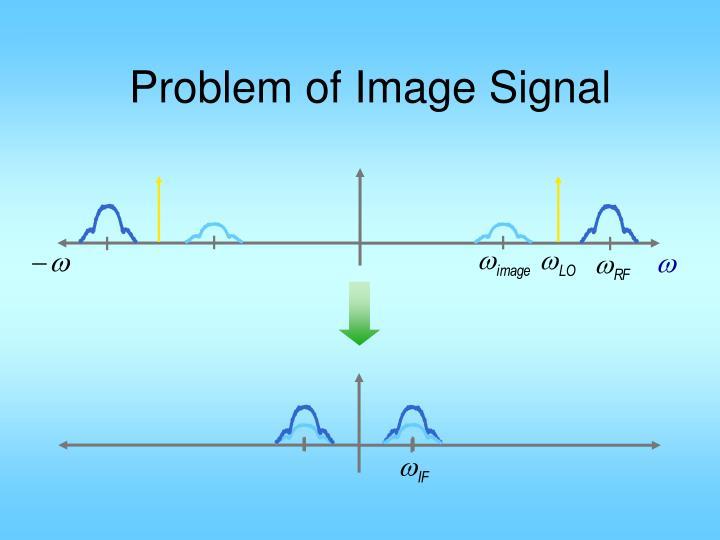 Problem of Image Signal
