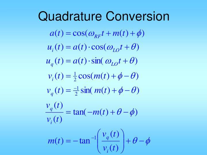 Quadrature Conversion