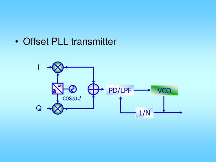 Offset PLL transmitter