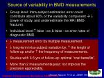 source of variability in bmd measurements1