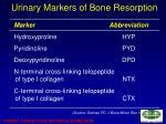 urinary markers of bone resorption